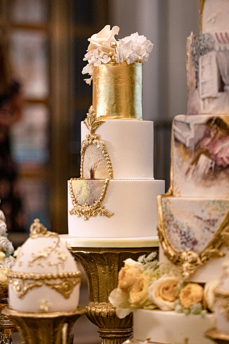 luxury tiered cake at Kimpton Fitzroy Londob by GC Couture