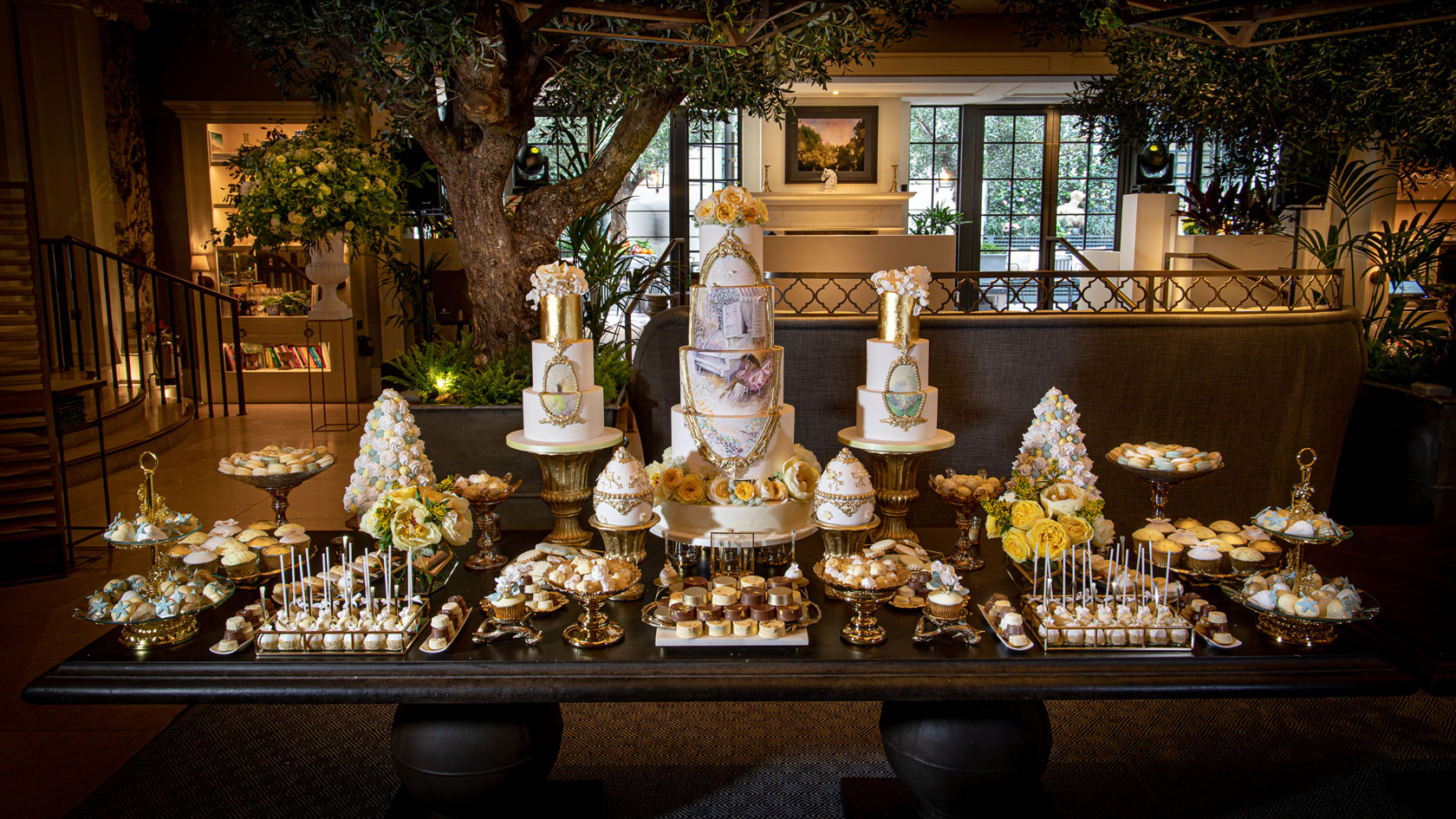 Indulgence Bar® Dessert Table at Kimpton Fitzroy by GC Couture, Pureveyors Of Luxury Cakes