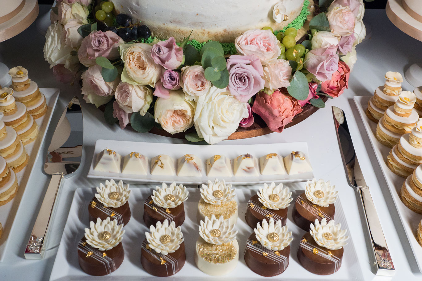 GC Couture Luxury Wedding Dessert Table Indulgence Bar Closeup