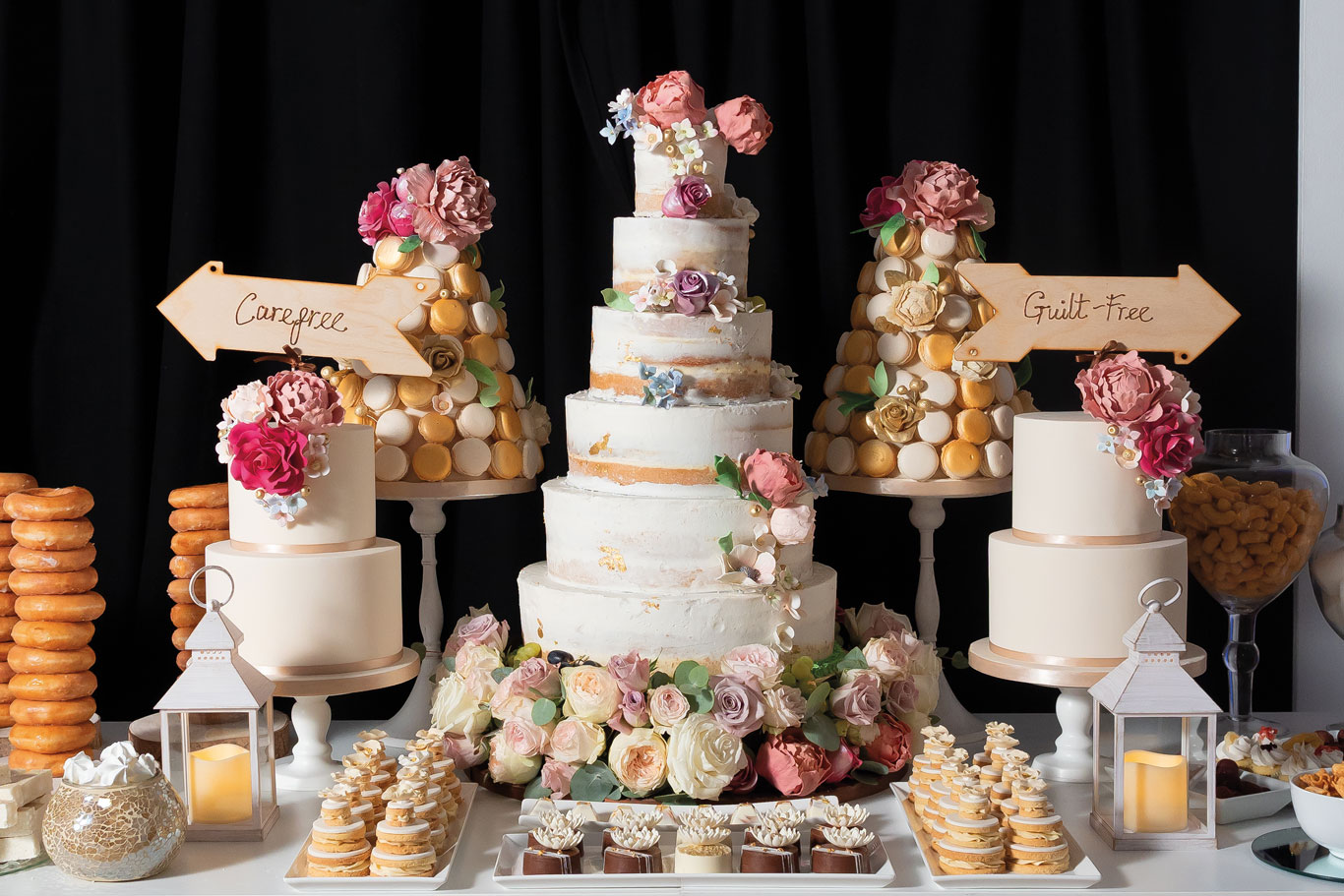 GC Couture Luxury Wedding Cake And Indulgence Bar