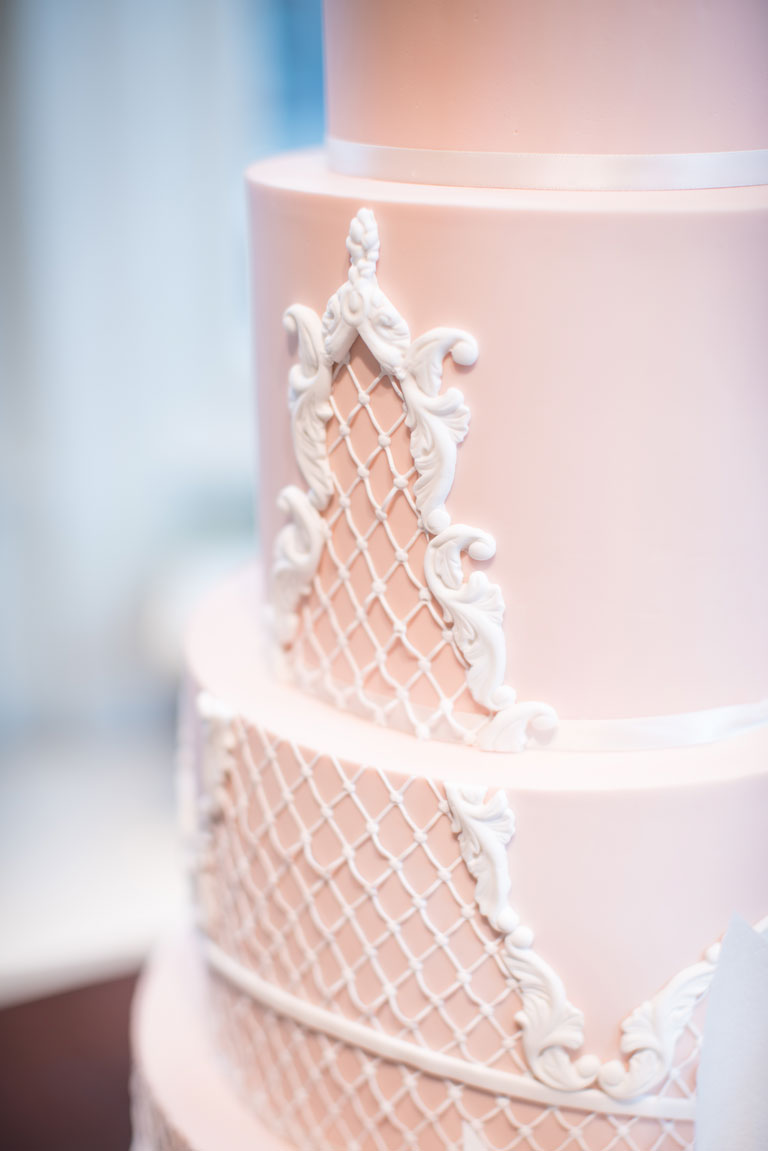 Oscar De La Renta Wedding Cake Closeup by GC Couture, Mayfair