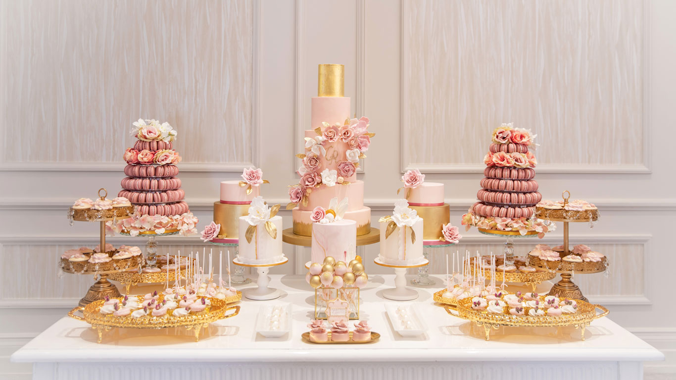 GC Couture & Gordon Ramsay Weddings Luxury Wedding Cakes and Indulgence Bar At London Marriott Grosvenor Square, Mayfair
