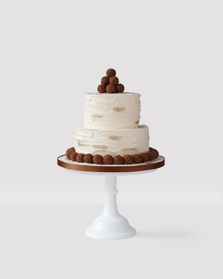 Buttercream Cake with Chocolate Truffle Cake