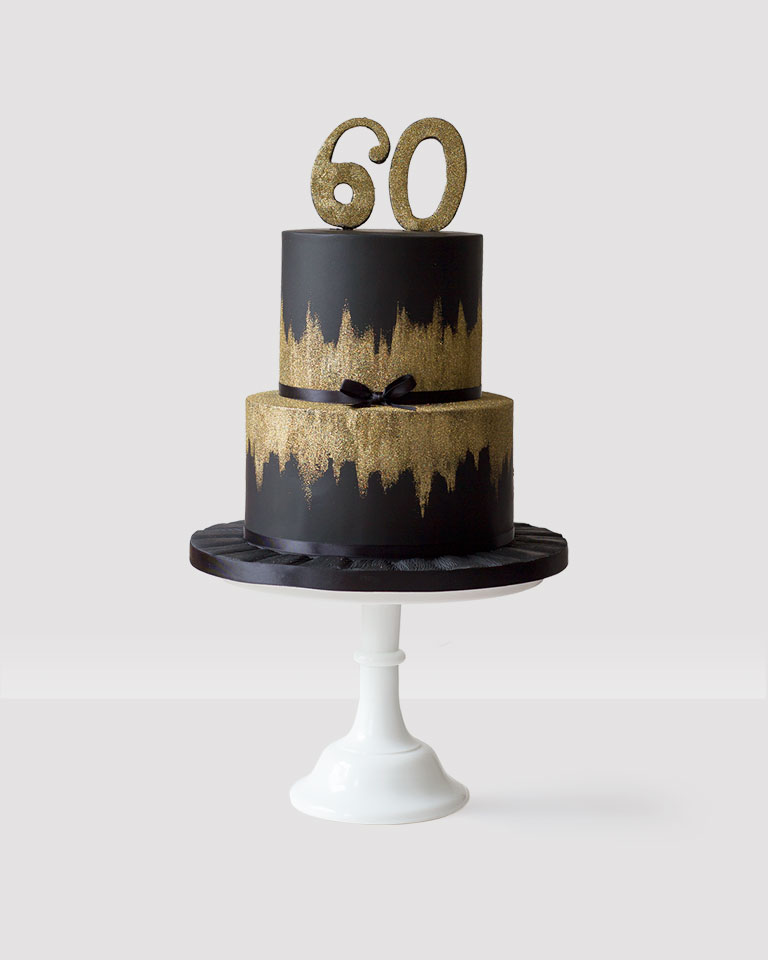 Black and Gold 2 Tier