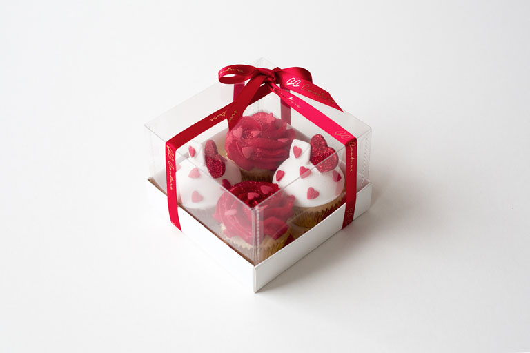 Box of 4 baby Valentine's cupcakes by GC Couture