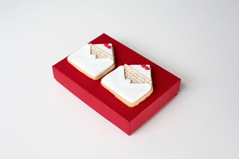 Box of 2 Love Letter Cookies by GC Couture